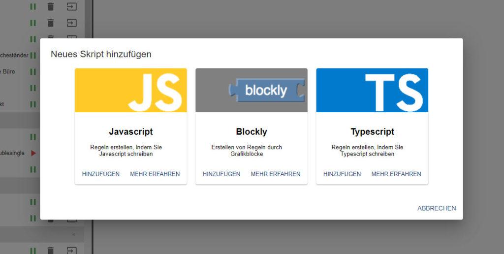 Blockly Javascript Telescript