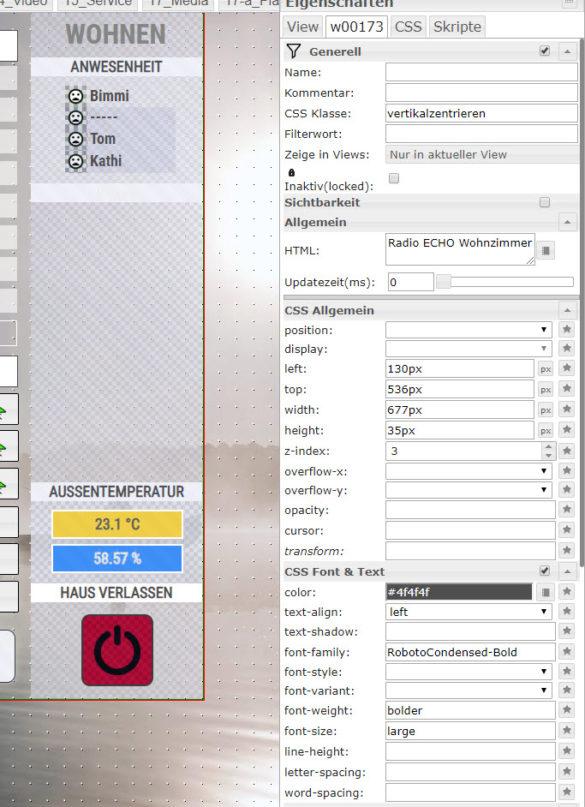 VIS Editor ioBroker